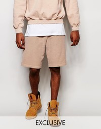 Крашеные шорты Reclaimed Vintage - Stone