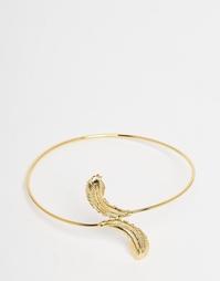 Браслет-манжет на предплечья в виде пера Orelia - Золотой
