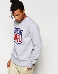 Свитшот с принтом щита и надписью NFL New Era - Серый
