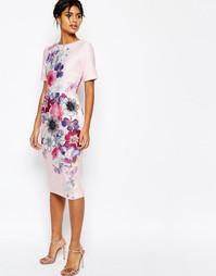 Фактурное платье‑футляр с цветочным принтом ASOS - Мульти