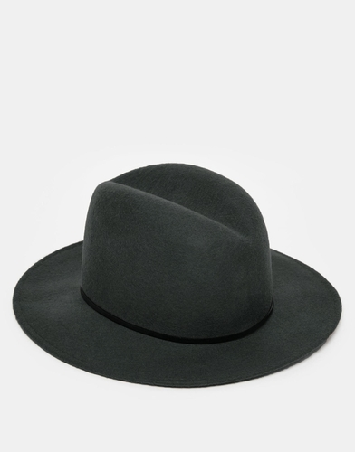 Мягкая фетровая шляпа с широкими полями Catarzi - Серый