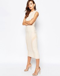 Облегающая трикотажная юбка телесного цвета Finders Keepers Always Lik
