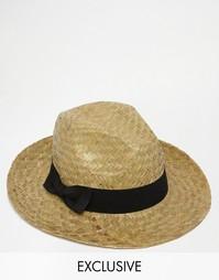 Соломенная шляпа Reclaimed Vintage - Кремовый