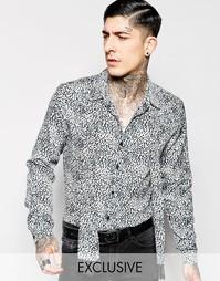 Классическая рубашка с леопардовым принтом и шарфом Reclaimed Vintage