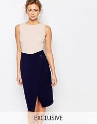 Платье-футляр миди 2 в 1 с пуговицами Closet