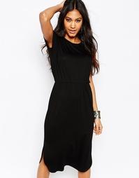Приталенное платье‑футболка миди ASOS - Черный