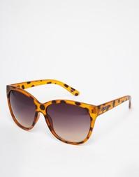 Солнцезащитные очки Quay About Last Night - Коричневый черепаховый