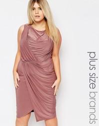Платье с запахом Boohoo Plus - Mauve