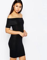 Платье мини с открытыми плечами ASOS - Черный