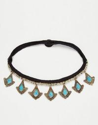 Ожерелье-чокер с подвесками Reclaimed Vintage - Золотой