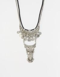 Многорядное ожерелье с монетами Glamorous - Серебряный