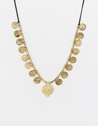 Броское ожерелье с монетками Glamorous - Золотой