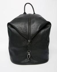 Мешковатый рюкзак на молнии Pieces - Черный