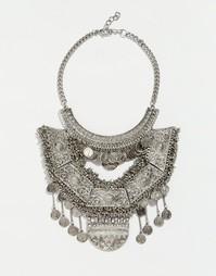 Броское ожерелье Glamorous - Серебряный