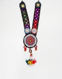 Ожерелье с кисточкой Reclaimed Vintage - Мульти