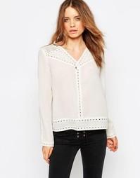 Блузка с вышивкой ришелье Maison Scotch - Белый 1