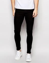 Супероблегающие стретчевые джинсы Selected Homme - Черный