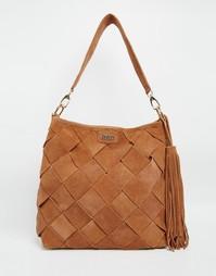 Замшевая мешковатая сумка-хобо на плечо Faith - Рыжий