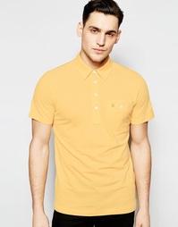 Футболка-поло классического кроя с карманом Farah - Желтый