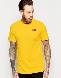 Футболка с логотипом на груди The North Face - Желтый