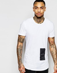 Длинная футболка с принтом Religion - Белый
