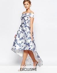 Асимметричное платье миди с принтом Chi Chi London