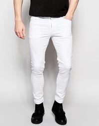 Белые супероблегающие джинсы Dark Future - Белый