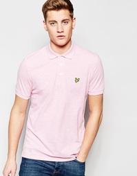 Розовая меланжевая футболка‑поло с логотипом‑орлом Lyle & Scott