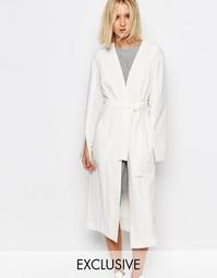 Куртка с завязками спереди House of Sunny Luxe - Слоновая кость