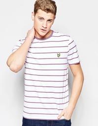 Белая футболка в полоску Lyle & Scott - Белый