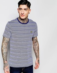 Синяя футболка в полоску Lyle & Scott - Синий