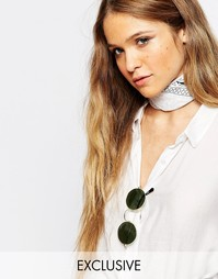 Платок-повязка с бандановым принтом Reclaimed Vintage - Белый