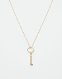Ожерелье с подвеской-ключом Orelia - Золотой