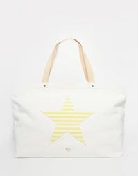 Пляжная парусиновая сумка со звездой Nali - Белый