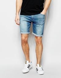 Светлые джинсовые шорты зауженного кроя ASOS - Светло-голубой