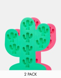 Лотки для льда в форме кактуса Sunnylife - Набор из 2 - Мульти
