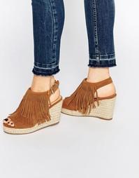 Светло-коричневые сандалии на танкетке Miss KG Peyton - Рыжий