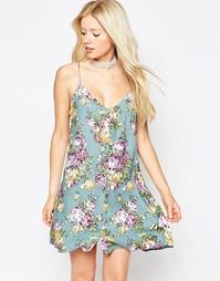 Платье-сорочка с пастельным цветочным принтом Motel Sanna