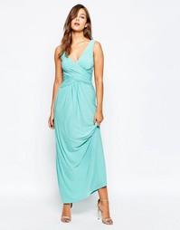Платье макси с перекрестным передом City Goddess - Aqua
