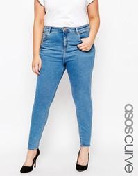 Выбеленные синие джинсы скинни ASOS CURVE Ridley - Синий выбеленный
