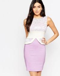Платье-футляр с кружевным топом Vesper Ronnie - Сиреневый