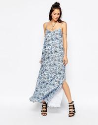 Платье макси с принтом Motel Carri - Серые обои