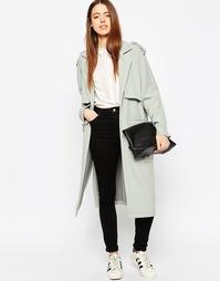 Пальто бойфренда с карманами в стиле милитари ASOS - Утиное яйцо