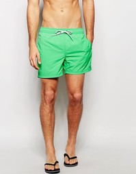 Однотонные шорты для плавания Tommy Hilfiger - Зеленый