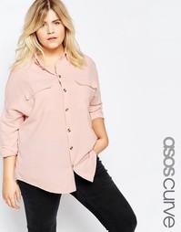 Рубашка в стиле сasual Shirt с необработанным краем ASOS CURVE