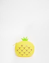Силиконовый кошелек с дизайном ананаса ASOS - Желтый