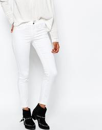 Укороченные джинсы скинни Vila - Белый