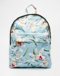Бледно-голубой рюкзак с орхидеями Mi-Pac