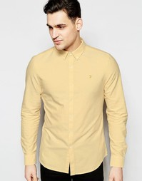 Оксфордская рубашка узкого кроя Farah - Желтый