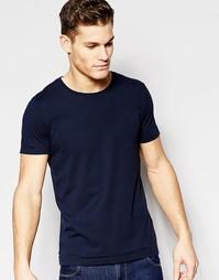 Темно-синяя футболка классического кроя с круглым вырезом Boss Orange